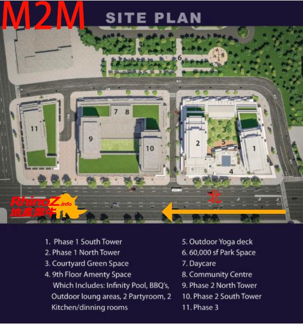 m2m siteplan 多伦多地产犀牛