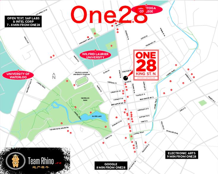 One28 Map 多伦多地产犀牛