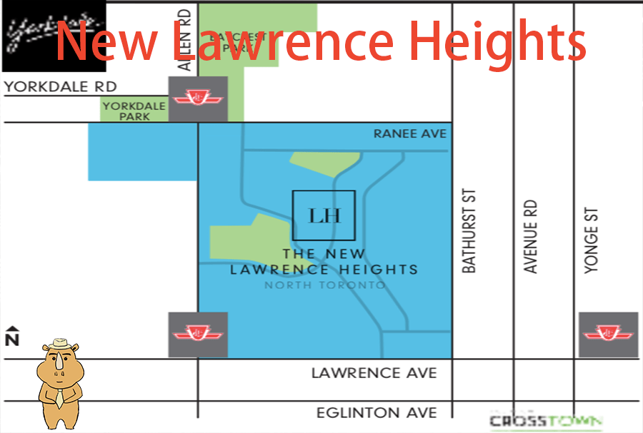 NewLawrenceHeights Map 多伦多地产犀牛