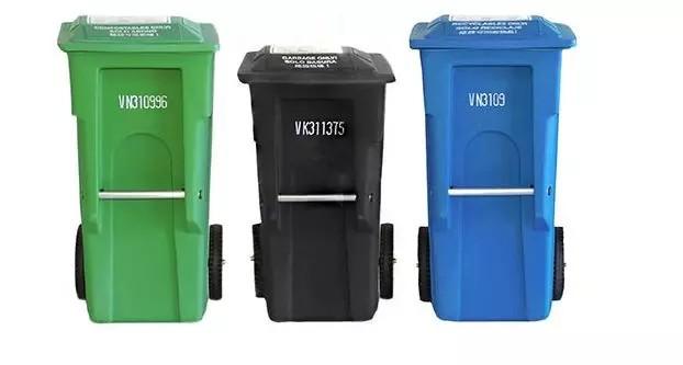 多伦多垃圾分类-各颜色的箱子