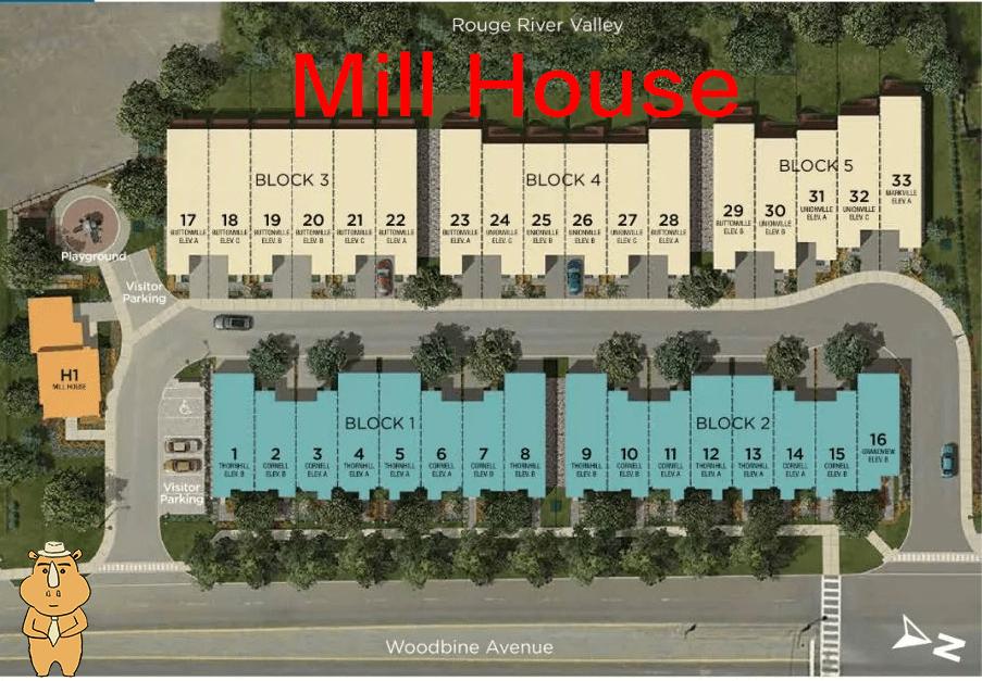 MillHouse siteplan 多伦多地产犀牛