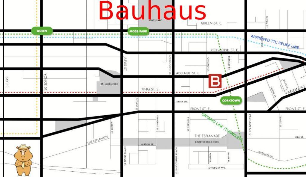 Bauhaus map 多伦多地产犀牛