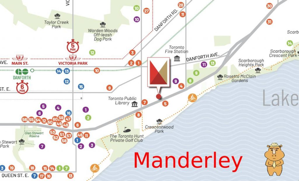 Manderley map 多伦多地产犀牛