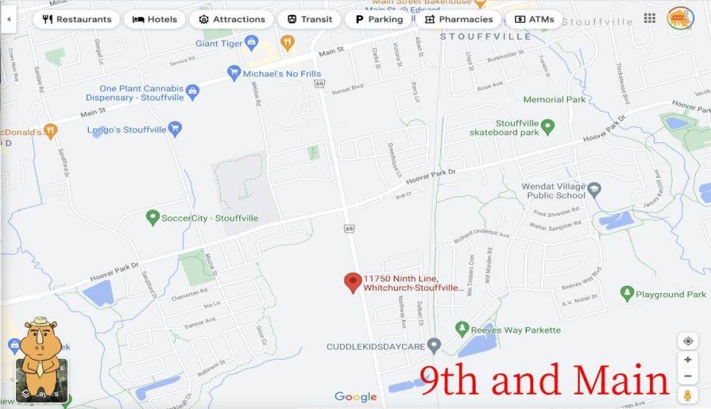 9th and Main Map 多伦多地产犀牛