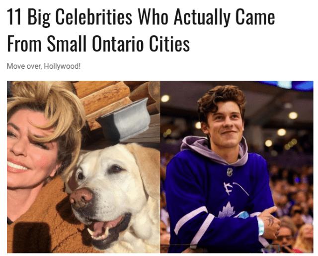 加拿大安省的世界级明星