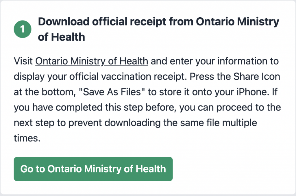 1 Download official receipt from Ontario Ministry of Health 多伦多地产犀牛