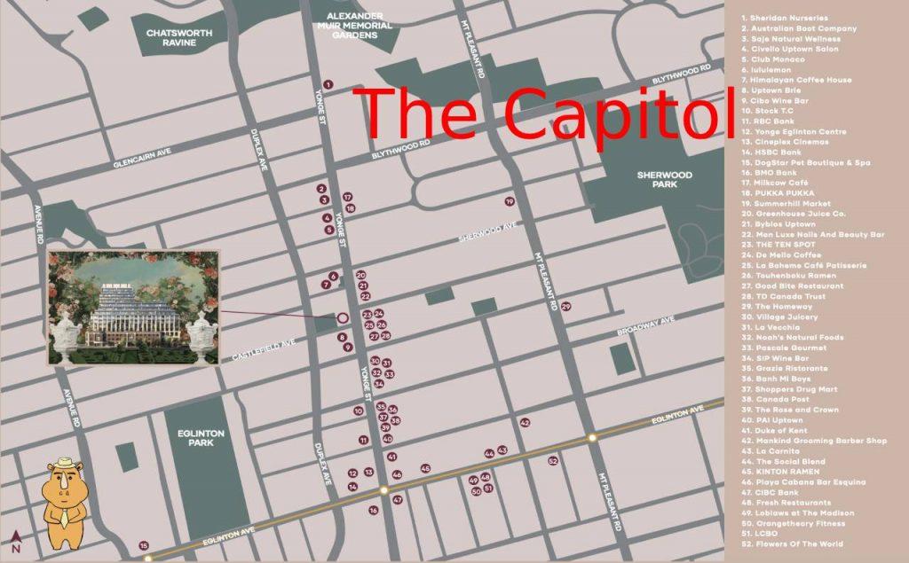 Capitol Map 多伦多地产犀牛