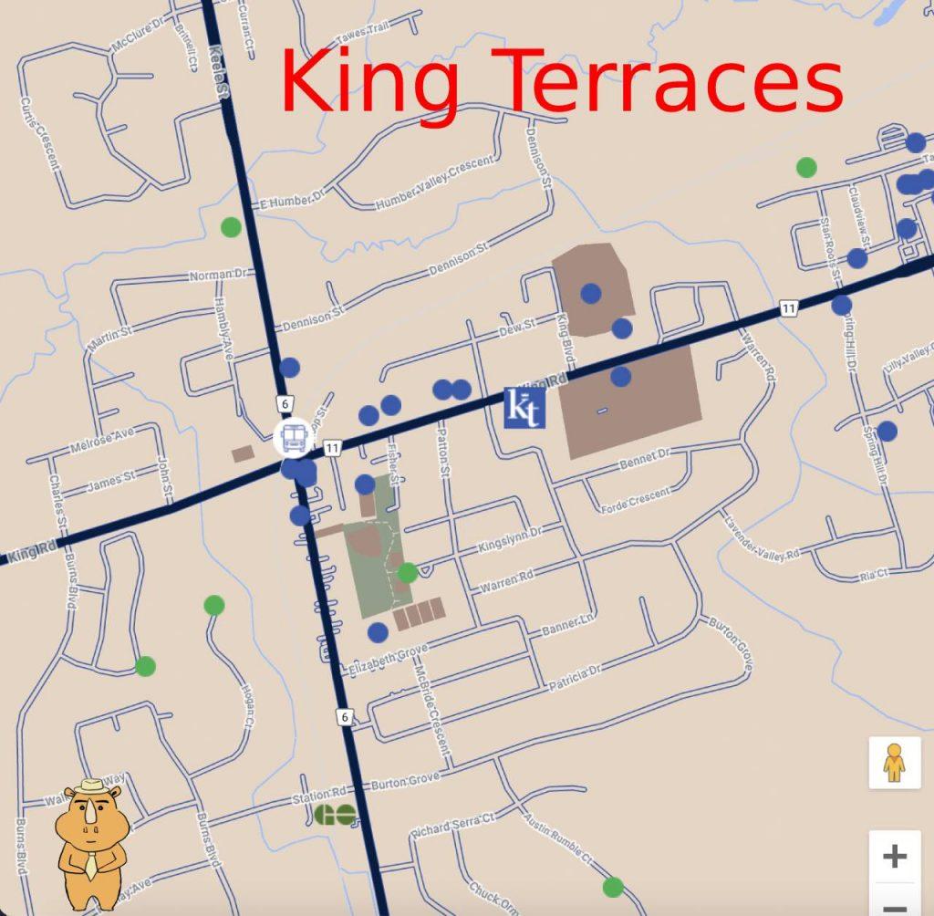 KingTerraces Map 多伦多地产犀牛