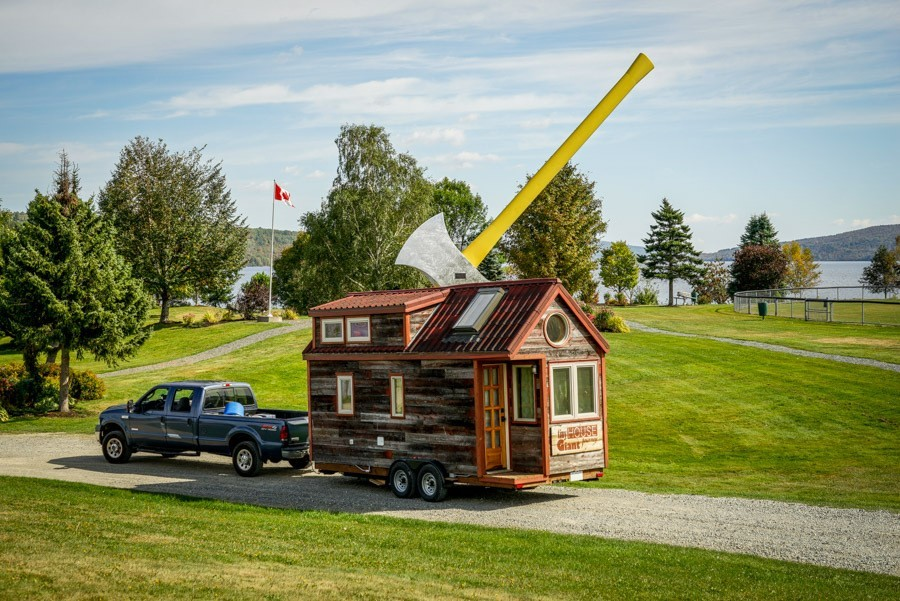 TINY-HOUSE-GIANT-JOURNEY-'largest axe in the world' in New Brunswick