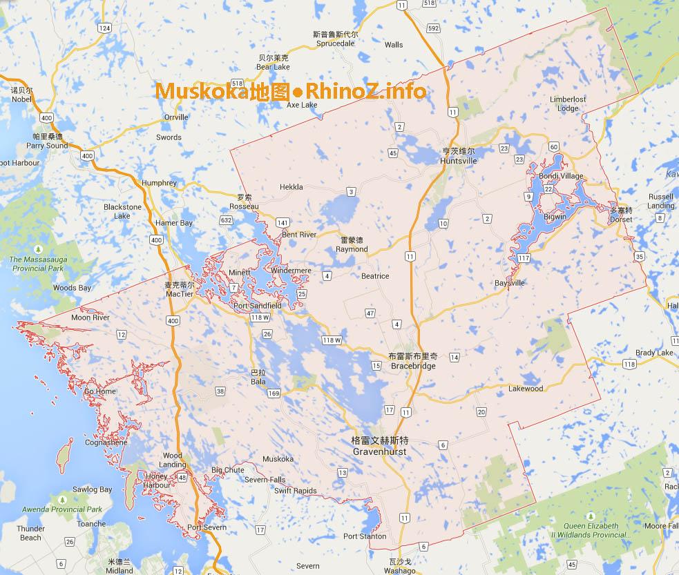 Muskoka-map