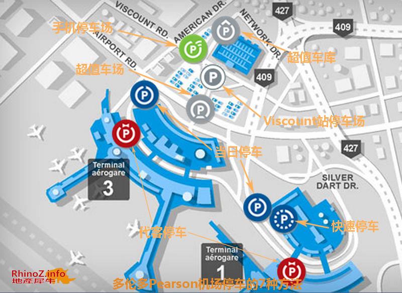 多伦多Pearson机场停车的7种方法