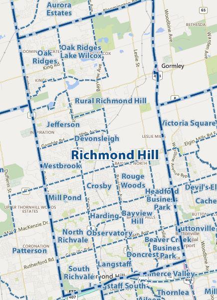 地图-Richmond Hill-Communities