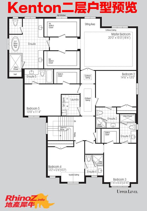 Floorplan upper 多伦多地产犀牛
