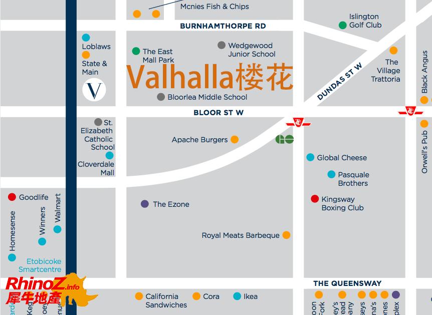 Valhalla map 多伦多地产犀牛