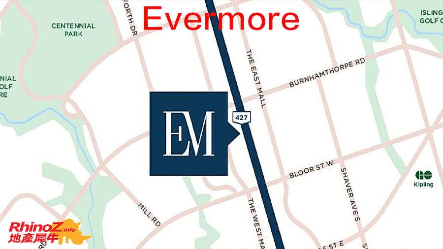 Evermore Map 多伦多地产犀牛