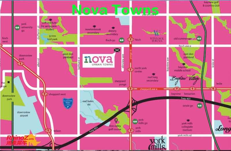 Nova map 多伦多地产犀牛