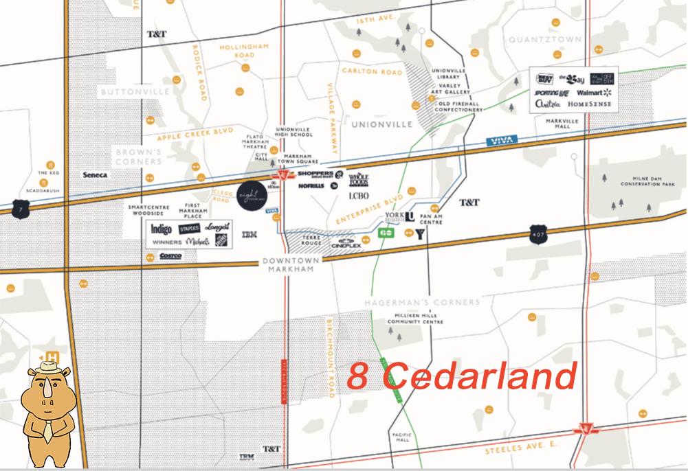 8Cedarland Map 多伦多地产犀牛